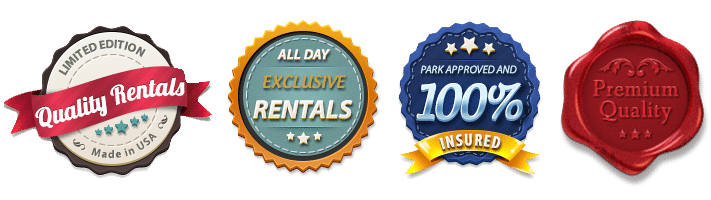 party equipment rental badges