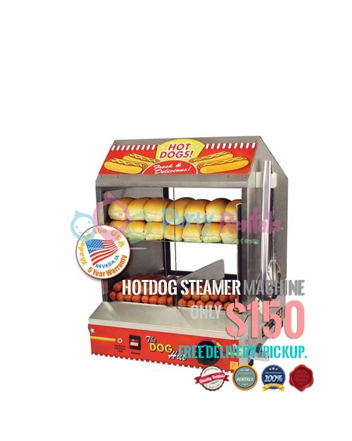 Hot Dog Bun Steamer Machine Rental