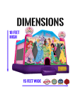 princesses-castle-jumper-rental-san-diego-dimensions