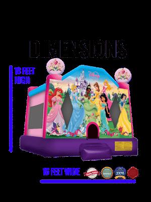 princesses-castle-jumper-rental-san-diego-dimensions