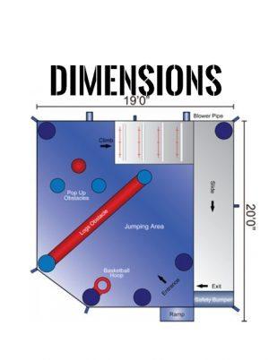 5-in-1-frozen-combo-jumper-rental-san-diego-dimensions