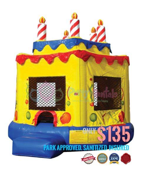 yellow-birthday-cake-jumper-rental-san-diego