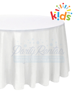 kids-white-round-tablecloth