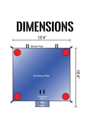 little-mermaid-bounce-house-dimensions