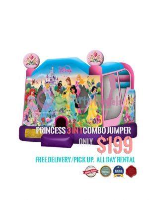 princess-3-in-1-combo-bounce-house-rental-san-diego-ca