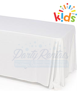 White Rectangular Tablecloth For Kids
