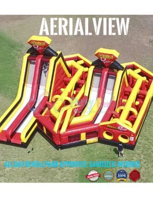 double-rush-obstacle-course-jumper-front-aerial-view