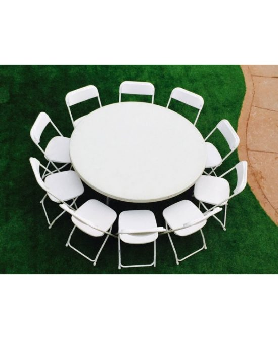 1 round table with 10 chairs package