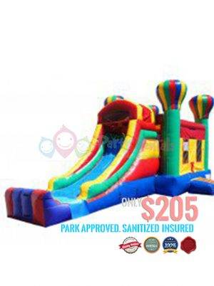 2 IN 1 ballon-combo-slide-jumper