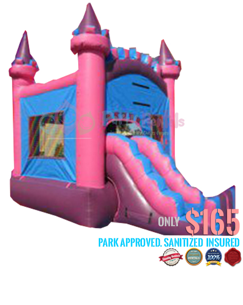 2 IN 1 pink-castle-combo-jumper-2-in-1
