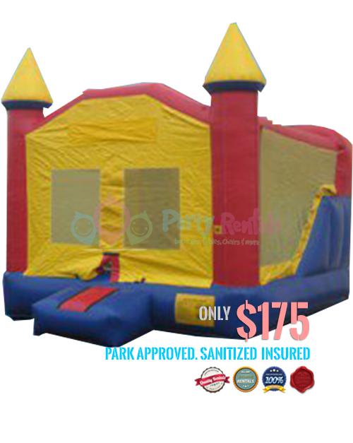 3 IN 1 mini-castle-slide-jumper