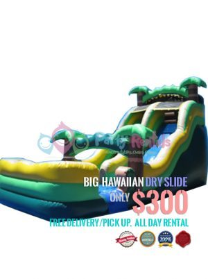 big-hawaiian-dry-slide-jumper-rental