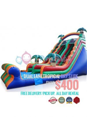 dual-lane-tropical-dry-slide-jumper-rental