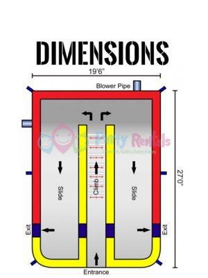 giant-double-lane-dry-slide-jumper-rental-san-diego-dimensions