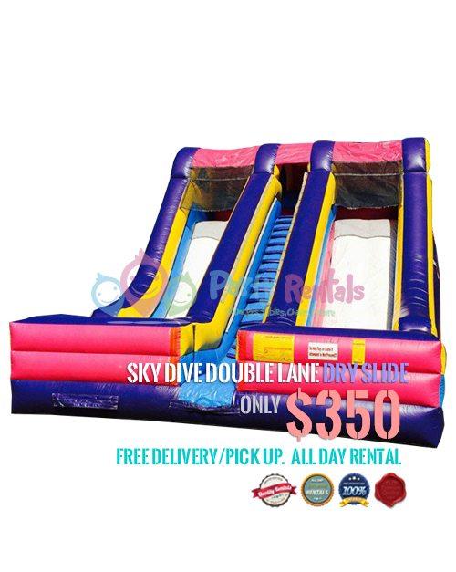 sky-dive-double-lane-dry-slide-jumper