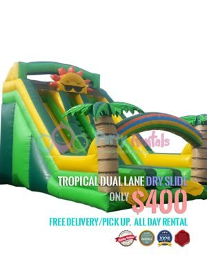 tropical-dual-lane-dry-slide-rental
