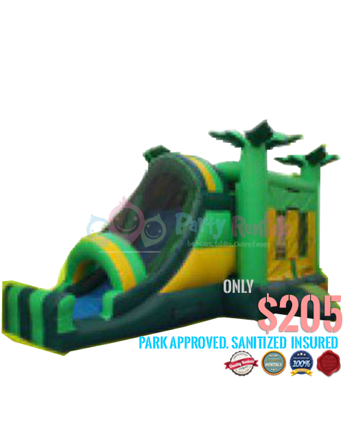 4 In 1 Tropical Combo Slide For Rent In San Diego