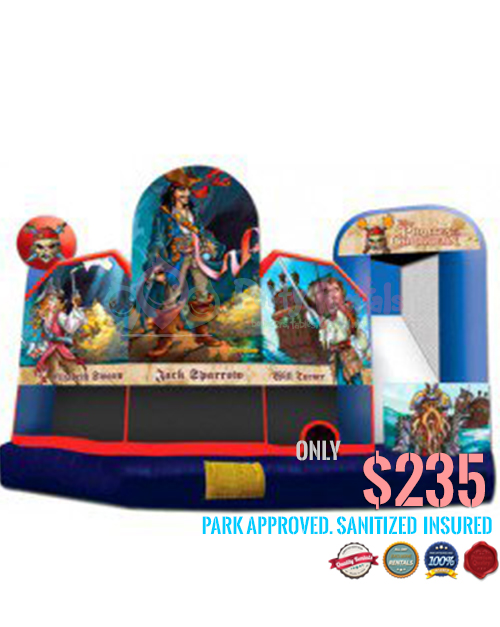 5 In 1 Pirates Of The Caribbean Combo Slide For Rent In