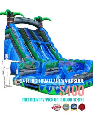 24-feet-dual-lane-water-slide-rental-san-diego