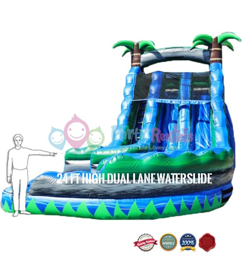 24-feet-dual-lane-water-slide-rental-size