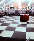 black and white dance floor for rent in san diego