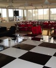 black and white dance floor rental san diego