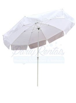 6ft White Patio Umbrella Al San Go