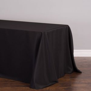 black rec tablecloth