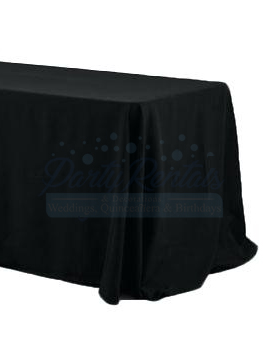 black-rectangular-tablecloth-rental-san-diego