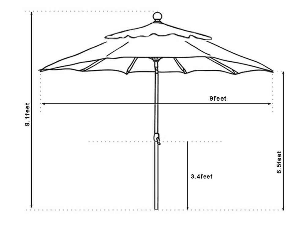 patio umbrella specifications